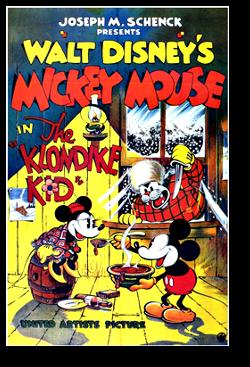 affiche mickey grand nord walt disney animation studios poster klondike kid