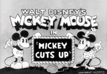 affiche mickey jardinier walt disney animation studios poster mickey cuts up