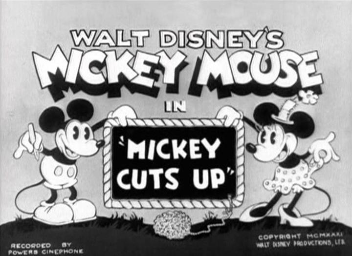 affiche mickey jardinier walt disney animation studios poster mickey cuts up