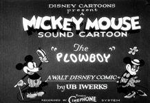 affiche mickey laboureur walt disney animation studios poster plowboy