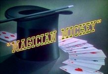 affiche mickey magicien walt disney animation studios poster magician mickey