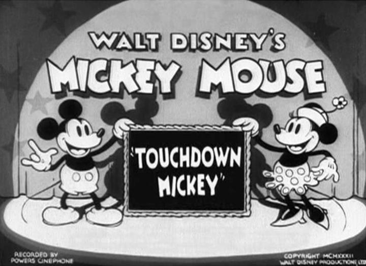 affiche mickey marque essai walt disney animation studios poster touchdown mickey