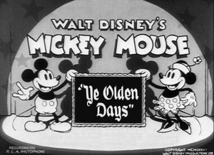 affiche mickey moyen age walt disney animation studios poster ye olden days