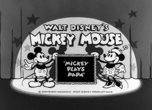 affiche mickey papa walt disney animation studios poster mickey plays papa