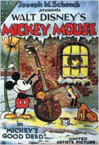 affiche mickey pere noel walt disney animation studios poster mickey good deed
