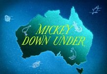 affiche mickey pluto autruche walt disney animation studios poster mickey down under
