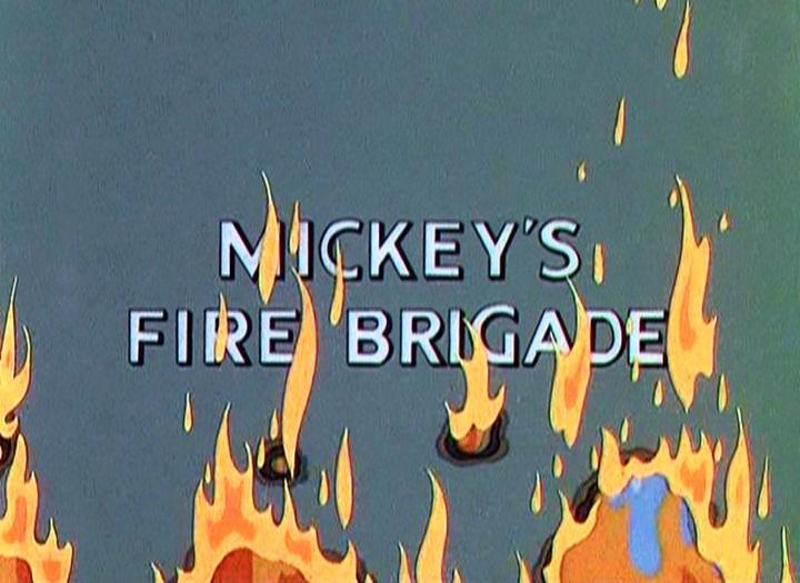 affiche mickey pompier walt disney animation studios poster mickey fire brigade
