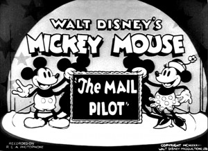 affiche mickey postier ciel walt disney animation studios poster mail pilot