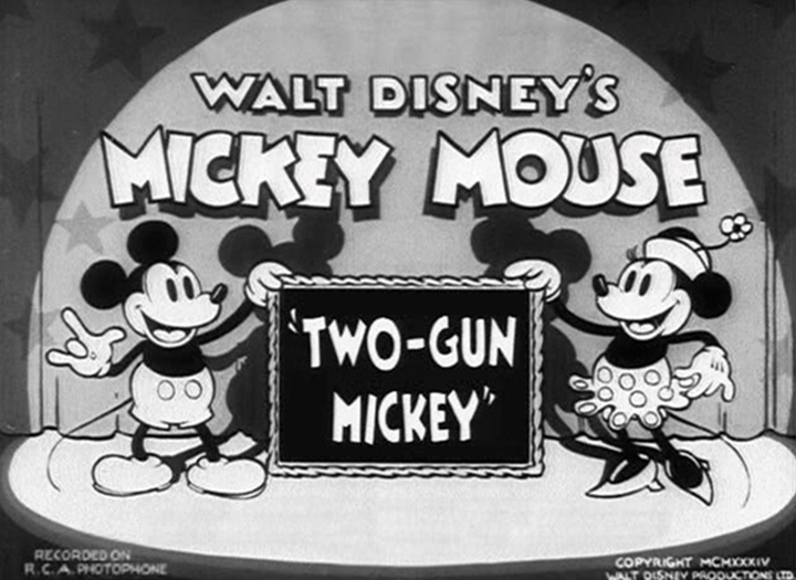 affiche mickey tireur elite walt disney animation studios poster two gun mickey