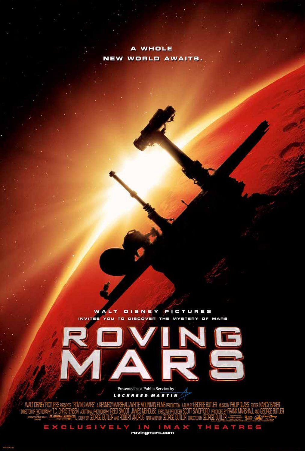 affiche poster objectif mars roving disney