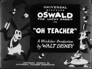 affiche poster oh teacher disney oswald