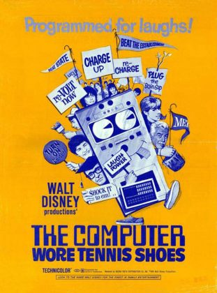 Affiche Poster ordinateur folie Computer Wore Tennis Shoes disney