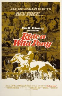 Affiche poster où passé poney wild ride pony disney
