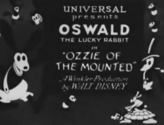 affiche poster ozzie mounted oswald disney