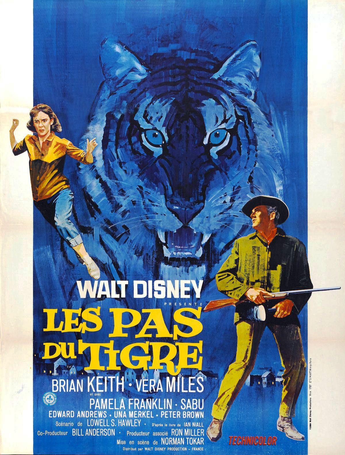 Affiche Poster pas tigre tiger walks disney