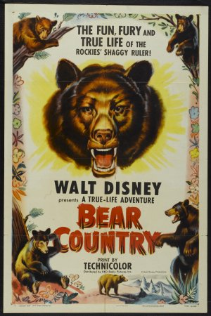 pays ours bear country true life adventures Walt Disney Pictures poster affiche