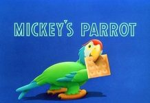 affiche perroquet mickey walt disney animation studios poster mickey parrot