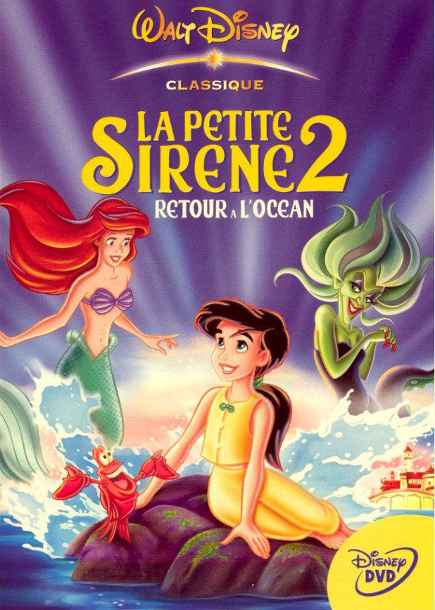 Affiche Poster petite sirène 2 retour océan little mermaid return sea disney disneytoon