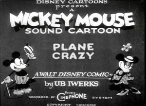 affiche plane crazy walt disney animation studios poster