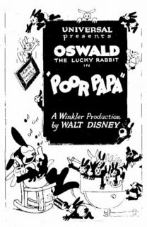 affiche poster poor papa disney oswald