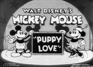 affiche premier amour walt disney animation studios poster puppy love