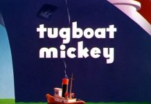 affiche remorqueur mickey walt disney animation studios poster tugboat mickey