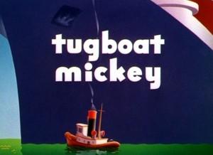 affiche remorqueur mickey walt disney animation studios poster tugboat mickey
