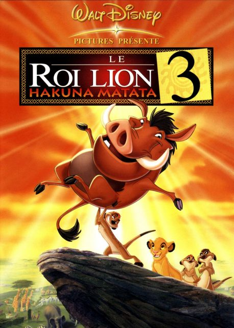 Affiche Poster roi lion 3 king hakuna matata 1/2 disney disneytoon