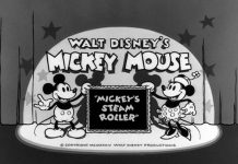 affiche rouleau compresseur mickey walt disney animation studios poster mickey steamroller