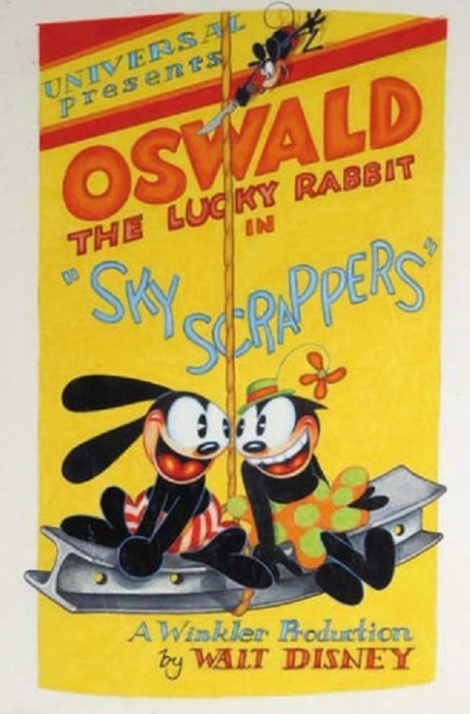 affiche poster sky scrappers disney oswald
