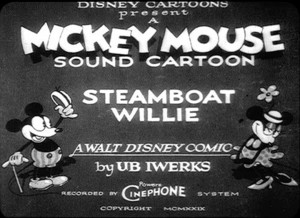 affiche steamboat willie walt disney animation studios poster