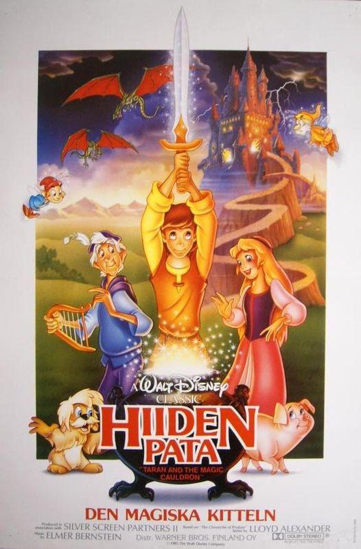 Affiche Taram chaudron magique Disney Poster Black cauldron