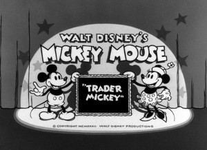 affiche trader mickey walt disney animation studios poster