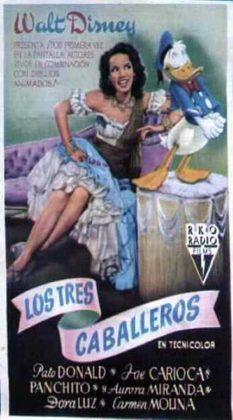 Affiche Les trois caballeros Disney Poster Three