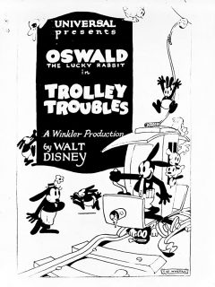 affiche poster trolley troubles disney oswald