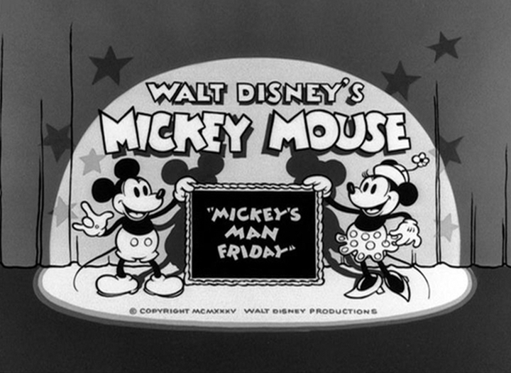 affuche robinson mickey walt disney animation studios poster mickey man friday