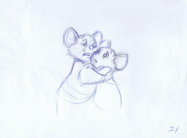 Artwork Concept art Les aventures de Bernard et Bianca Disney The rescuers