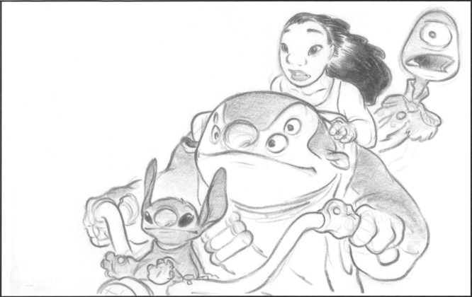 Artwork Concept art Lilo & Stitch Disney