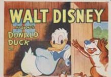 Walt Disney Animation poster affiche donald