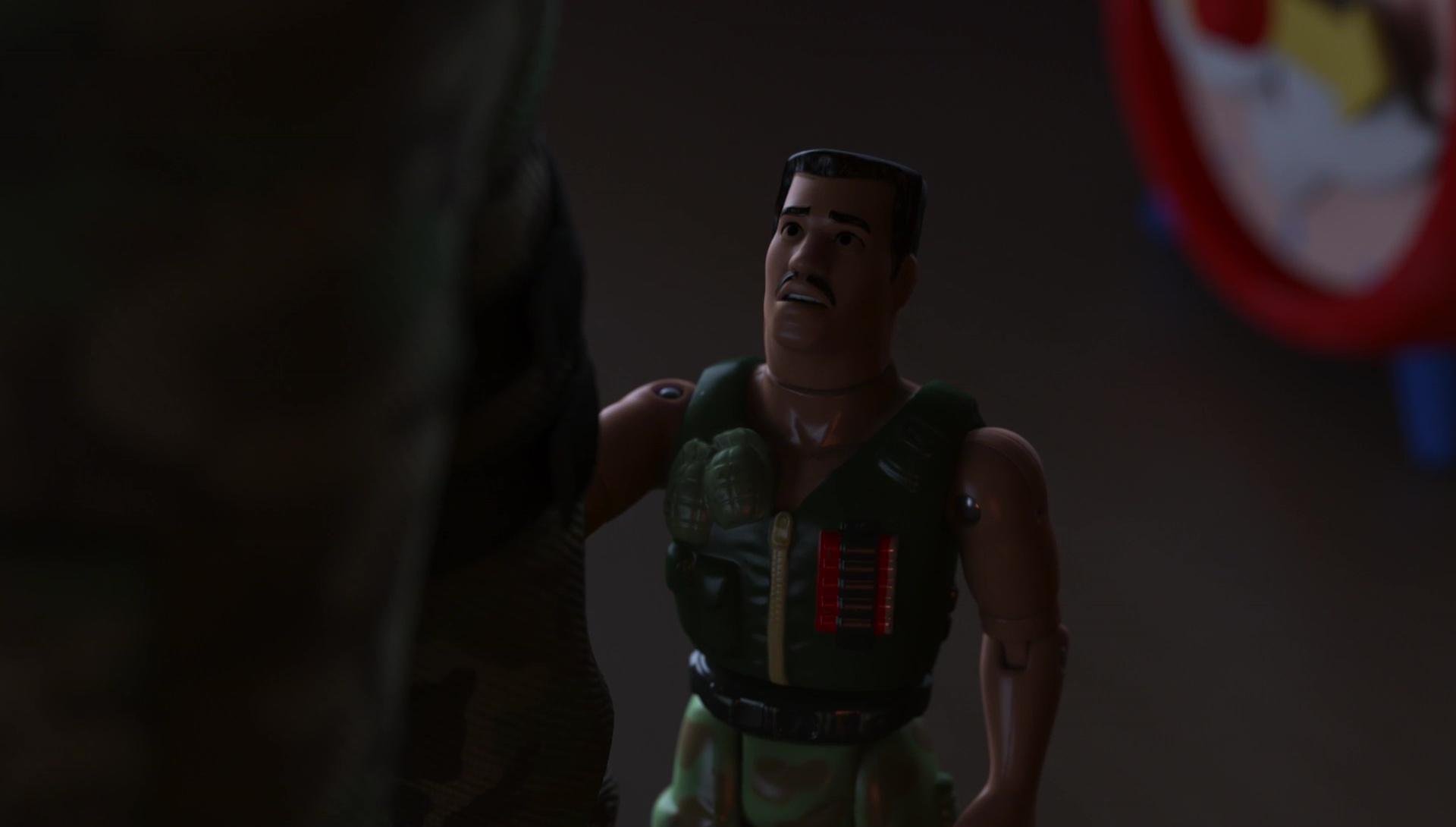 commandant carl junior combat personnage character pixar disney toy story angoisse motel terror