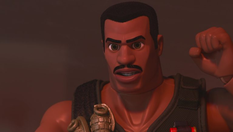 "Commando Carl, personnage dans ""Toy Story : Angoisse au motel""."