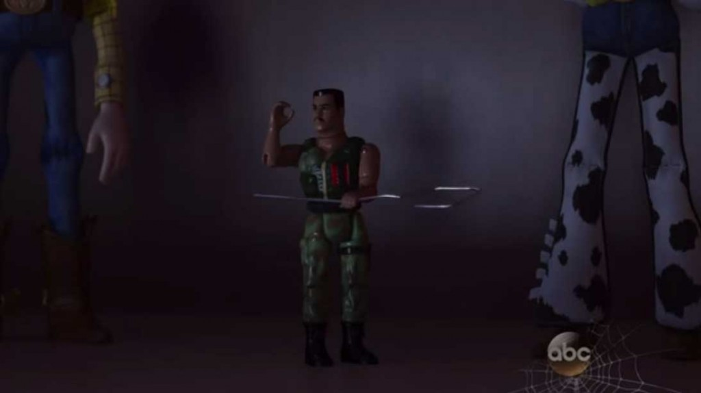 commando carl junior disney pixar toy story angoisse motel terror