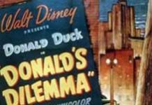dilemne donald Walt Disney Animation poster affiche donald