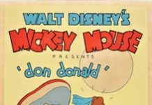 don donald Walt Disney Animation poster affiche donald