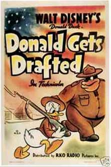 donald armee Walt Disney Animation poster affiche donald gets drafted