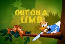donald blagueur Walt Disney Animation poster affiche donald out of limb