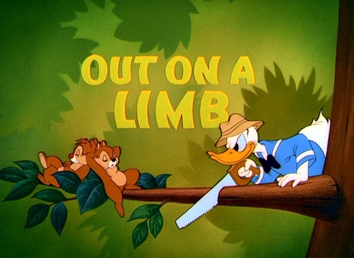 donald blagueur Walt Disney Animation poster affiche donald out of limb
