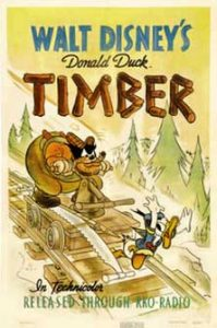 donald bucheron Walt Disney Animation poster affiche donald timber