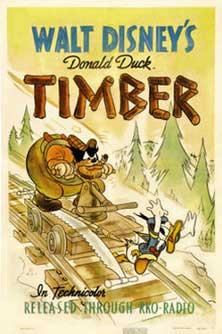 donald bucheron Walt Disney Animation poster affiche donald timber