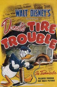 donald creve Walt Disney Animation poster affiche donald tire trouble